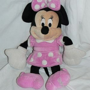 Disney Authentic Pink Dress Minnie Mouse Plush Toy
